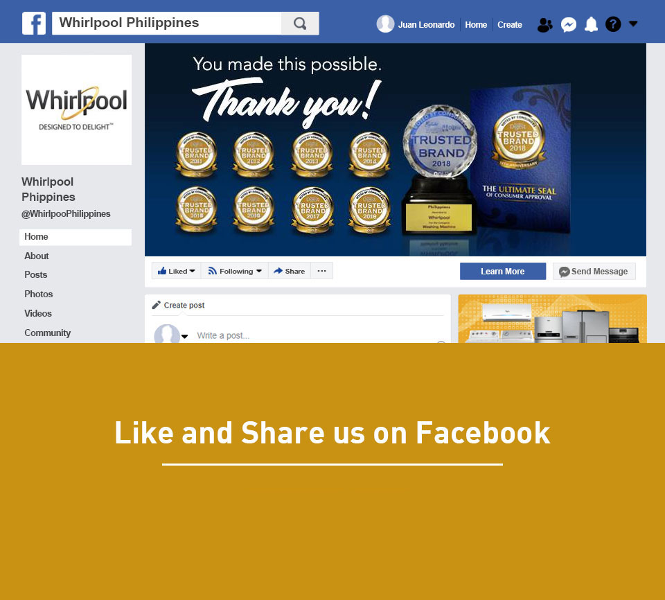 Whirlpool Facebook Page